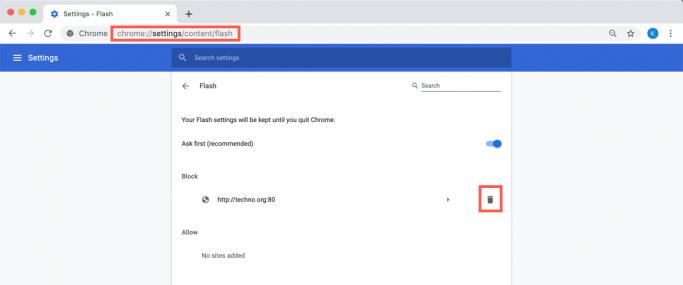 Fix Flash problems in Chrome - Unblock a website