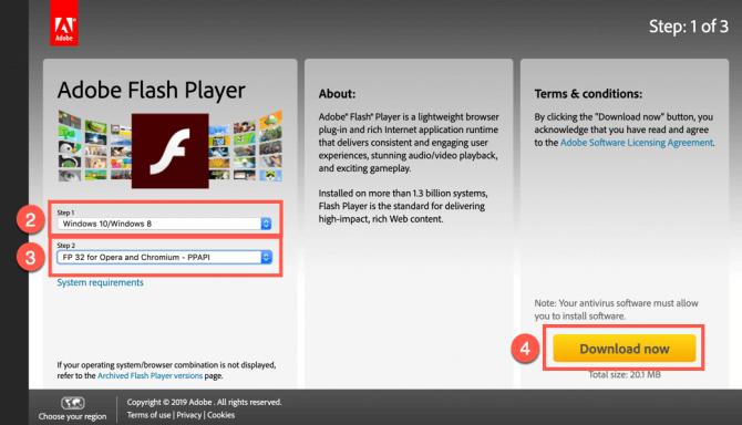 Play SWF in Chrome - reinstall Adobe Flash