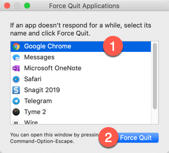 How to force quit Chrome on MacOS