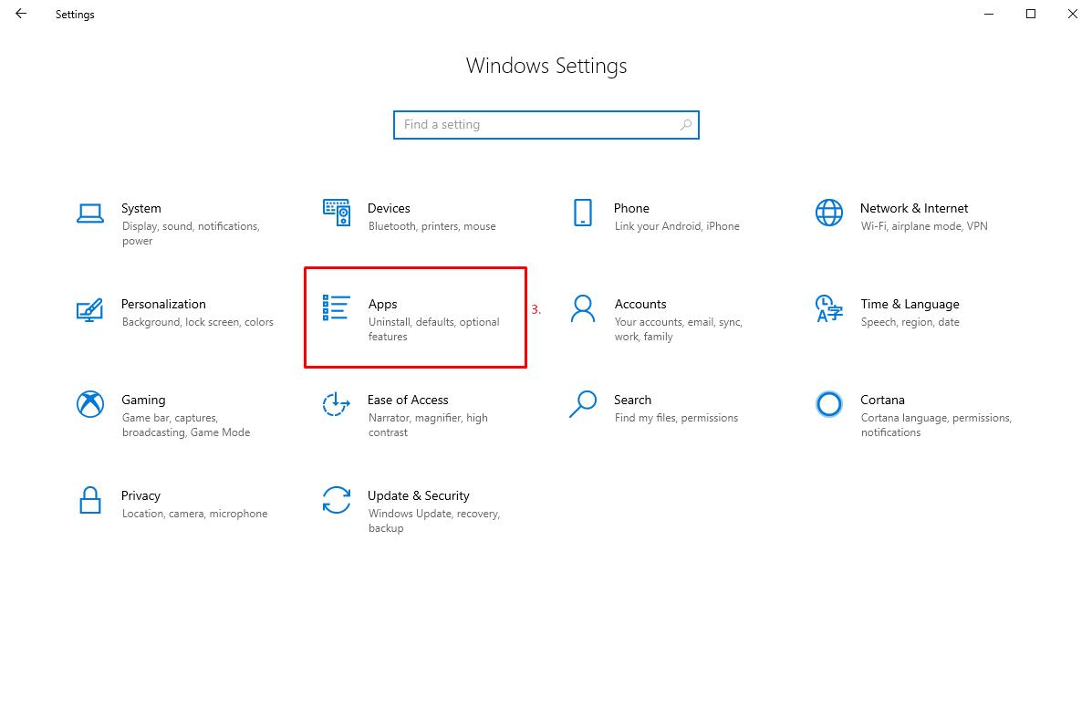 Apps in Windows 10 Settings