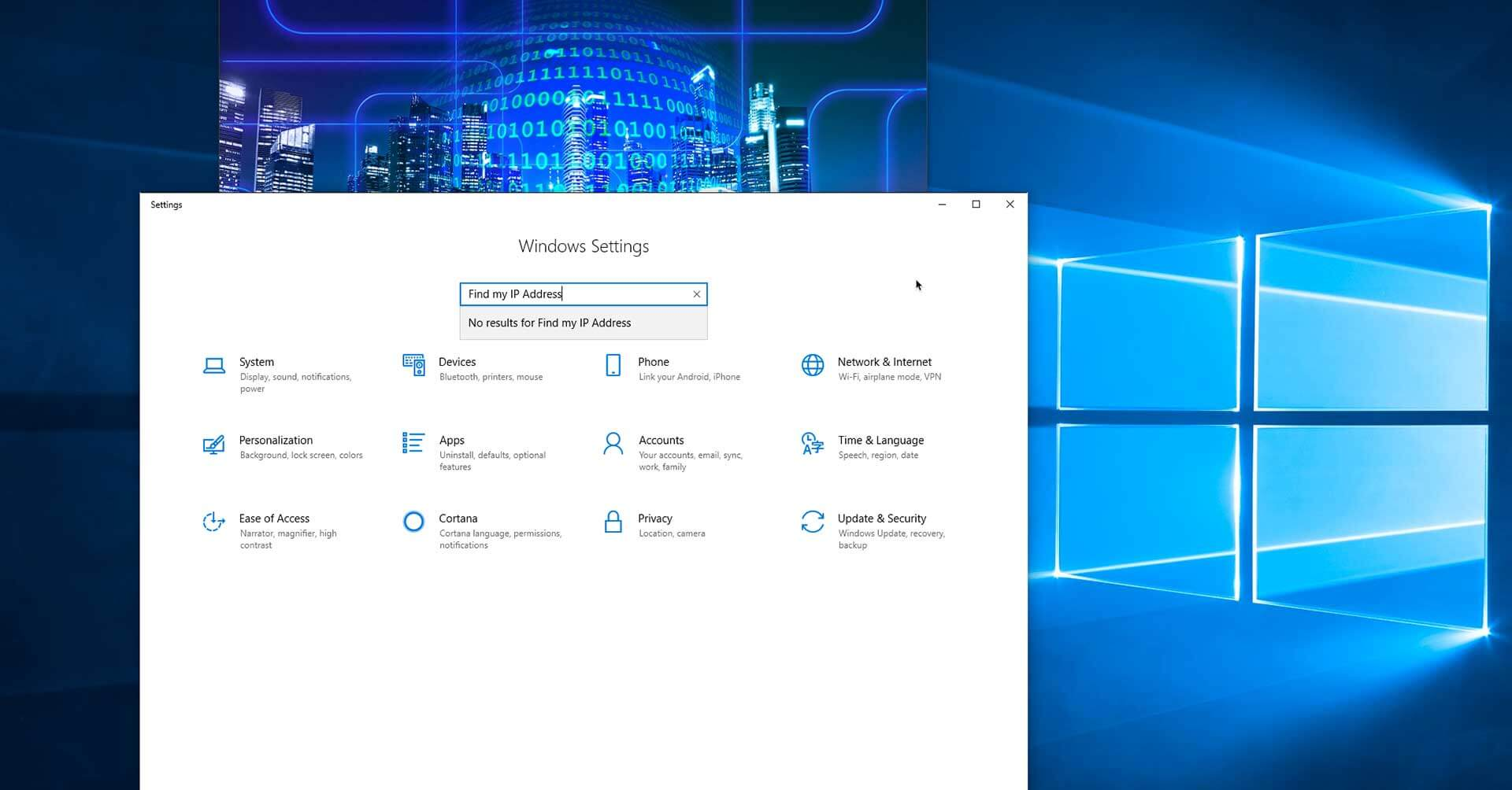 How Can I Find My IP Address Windows 10?
