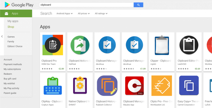 How to clear the clipboard on Android - the many Clipboard apps in the Google Play Store