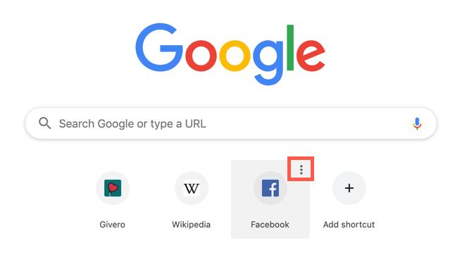 Remove thumbnails from Google Chrome: Edit a thumbnail